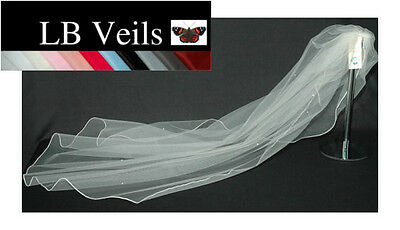 Wedding Veil Ivory 1 Single Tier Crystal  All Over Floor Length LBV144 LB Veils