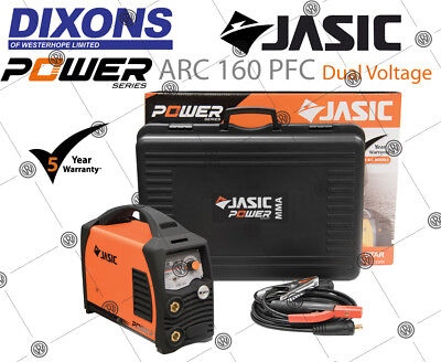 Jasic PRO ARC 160PFC 160amp PFC MMA Stick Welder DV Dual Voltage 110v 230v 5Year