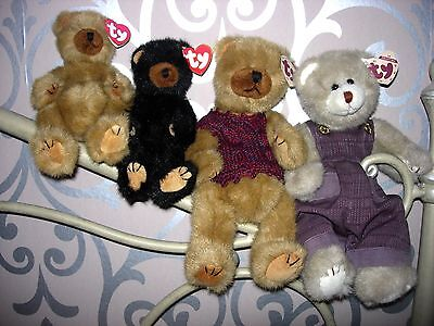 TY ATTIC BEARS - CODY, IVAN, CLYDE, CHARLES, DICKENS and PRECIOUS