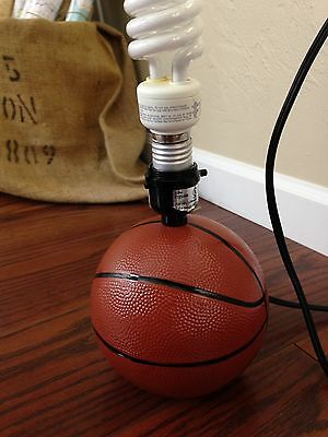 Basketball Lamp Base Boys Room Decor Man Cave