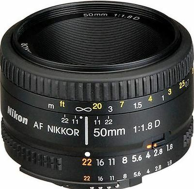 New Nikon Af Nikkor 50Mm F/1.8D Lens Super Integrated Lens Coating Slr Camera