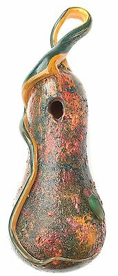 Daum Nancy gourd vase with applied insect