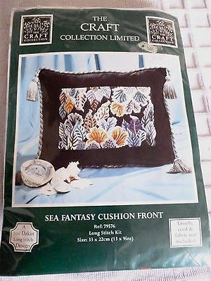 The Craft Collection Sea Fantasy Cushion Front Long stitch kit