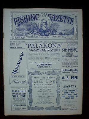 Fishing Gazette . 24th March 1928 . Vintage Newspaper . Rar . Zeitung . angeln