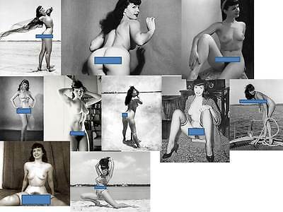 Lotto 10 Foto - Ristampe-Reprint - Betty Page - Photographs B/n
