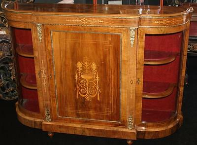 Fine Figured Inlaid Walnut Credenza c.1860