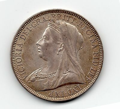 1893 Great Britain, Victoria Florin, Silver, Two Shillings