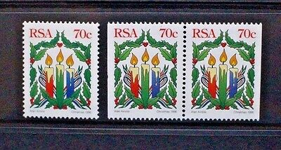 SOUTH AFRICA 1996 Christmas Candle. Set of 2. Mint Never Hinged SG937.