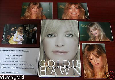 Goldie Hawn Signed First-Edition Hardback Book 'A Lotus Grows In The Mud' Proof