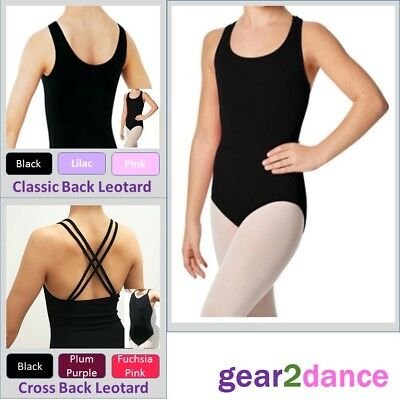 Studio Quality Girls Leotard Dance Ballet Tap Modern Gymnastics Ages 3-11 NEW