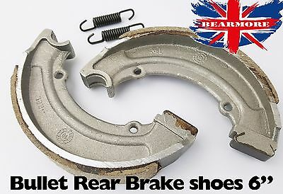 Royal Enfield Rear Brake Shoe 6'' 350cc,500cc Bullet Brake Pad With Spring