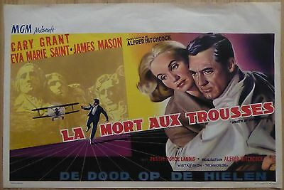 NORTH BY NORTHWEST (1959) - original Belgian film/movie poster, Alfred Hitchcock
