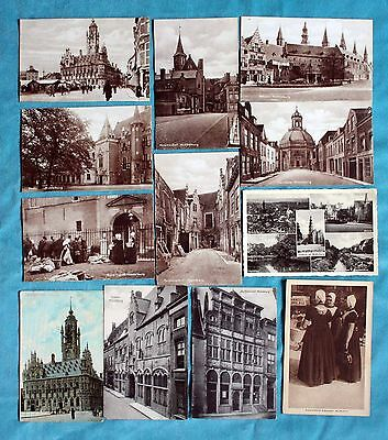 Job Lot Collection Of 12 Early Postcards Netherlands Volendam Zeeland Domburg