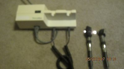 Welch allyn 767 transformer with otoscope and ophthalmoscope heads