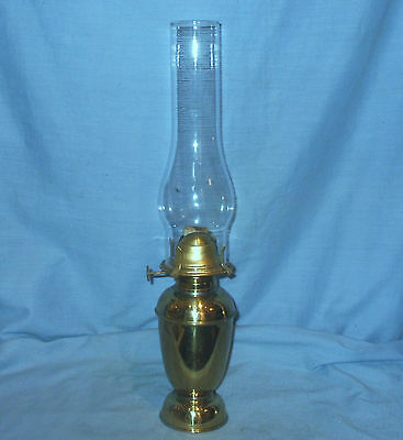 Tall Brass Oil Lamp with weighted base