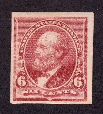 US 224P5 6c Plate Proof on Stamp Paper OG H