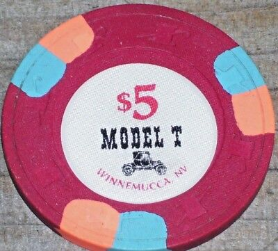 $5 2Nd Edt Gaming Chip From The Model T Truck Stop & Casino Winnemucca Nv