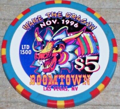 $5  1996 Year Of The Dragon Chip From The Boomtown Casino Las Vegas Nv