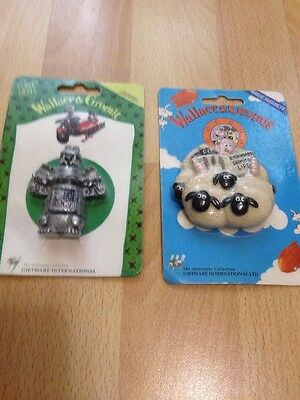 FAB VINTAGE 1989 *WALLACE AND GROMIT Fridge Magnets . Giftware Int Ltd .