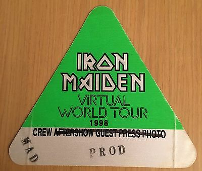 Pase De Tela - Ticket - Entrada Concierto - Iron Maiden 1998 Virtual World Tour