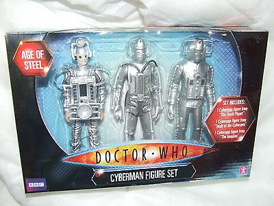 Doctor Who Cyberman Action Figure Set Sealed