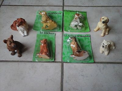 Lot 8 Figurines Collection Chiens En Resine 4 Neufs 4 Occasions