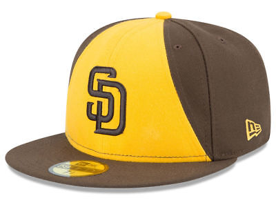 New Era San Diego Padres ALT 2 59Fifty Fitted Hat (Brown/Gold) MLB Cap