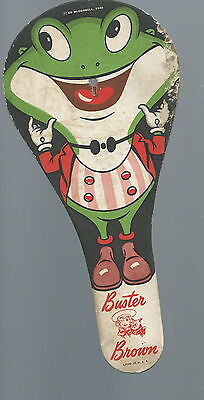 NF-011 - 1946 Buster Brown Paddle Ball Paddle Advertising Pressed Paper Vintage