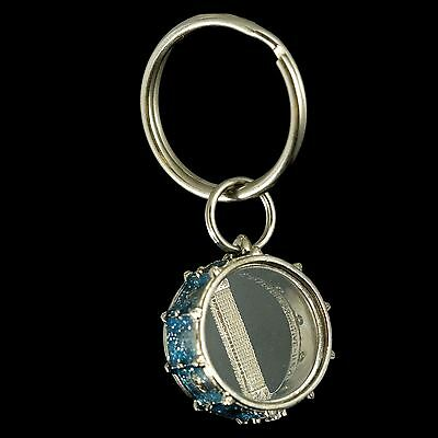 Harmony Jewelry Snare Drum Keychain (Metallic Blue)