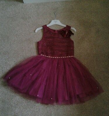 Girls dark pink Occasion / Party / Wedding Dress Age 5