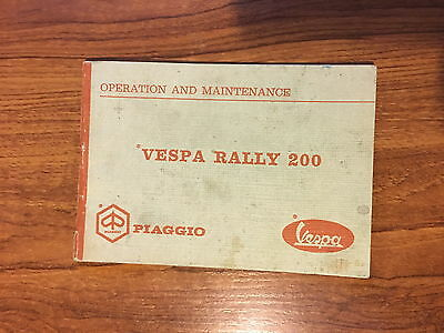 Vespa Rally 200 Owner's Operation And Maintenance Manual