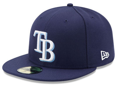 cheap for discount f1842 62d41 New Era Tampa Bay Rays GAME 59Fifty Fitted Hat (Light Navy) MLB Cap