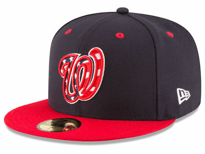 New Era Washington Nationals ALT 4 59Fifty Fitted Hat (Navy/Red) MLB Cap