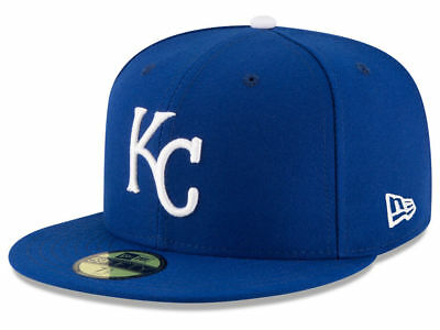 New Era Kansas City Royals GAME 59Fifty Fitted Hat (Royal Blue) MLB Cap