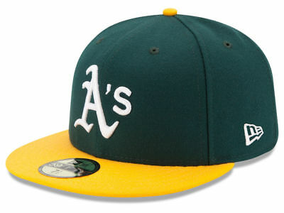 d81f1594614 NEW ERA OAKLAND Athletics HOME 59Fifty Fitted Hat (Green Yellow) MLB ...