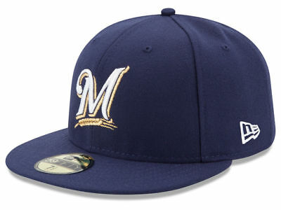 New Era Milwaukee Brewers GAME 59Fifty Fitted Hat (Navy) MLB Cap
