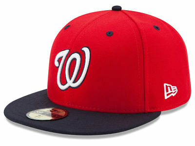 New Era Washington Nationals ALT 2 59Fifty Fitted Hat (Red/Navy) MLB Cap