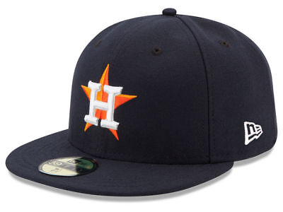New Era Houston Astros HOME 59Fifty Fitted Hat (Navy) MLB Cap