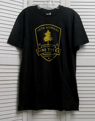 VOLCOM Black Yellow Cotton 2009 Andy Bruce Irons Pine Trees Classic Surf S M