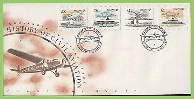 Singapore 1991 History of Civil Aviation set on First Day Cover
