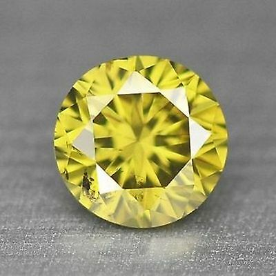 0.10 CTS Fancy Rare Vivid Canary Yellow Colour NATURAL DIAMOND- SI2 investment