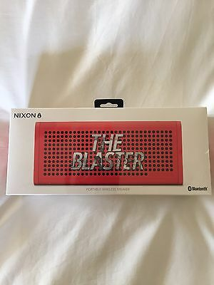 Nixon Blaster Pro Portable Speaker, Red, BRAND NEW & UNOPENED RRP $200.00!
