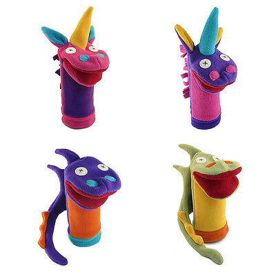 Cate and Levi Fantasy & Imagination Hand Puppets - 2 Unicorns & 2 Dragons (CAD)