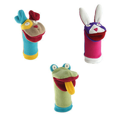Cate and Levi Pets Collection Set of 3 Hand Puppets - Puppy, Bunny & Frog (CAD)