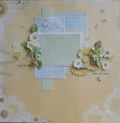 handmade premade scrapbook page layout 12 X 12 -  You and me Wedding Engagement