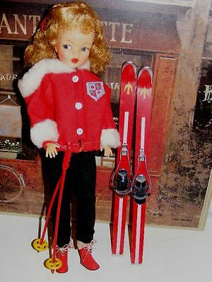 WOW! Vintage XLNT HIGH COLOR BLONDE TAMMY DOLL IDEAL 1962 DOLL Ski outfit