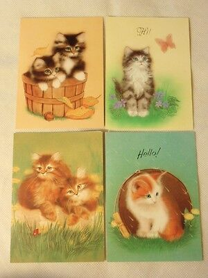 Kitty Cat Kitten Blank Note Cards by Olympicard UNUSED