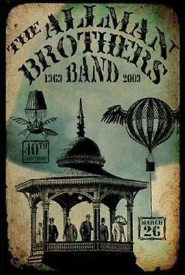 Allman Brothers Band _RARE 2009 Beacon Theatre Concert Poster by Lindsey Rogers