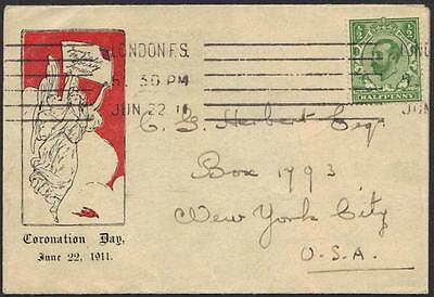 Uk Gb 1911 K. George V Fdc & Coronation Date 6.22.1911 On A Circular Of The Jr.