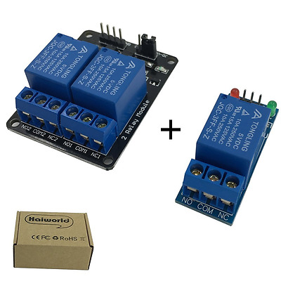 Haiworld 1 + 2 Channel DC 5V Relay Module for Arduino Raspberry Pi DSP AVR PIC A
